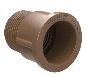 Adaptador curto marrom PVC soldável