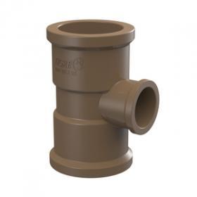 Tê redução marrom PVC soldável